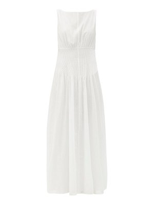 Sir alina pintucked cotton-blend maxi dress