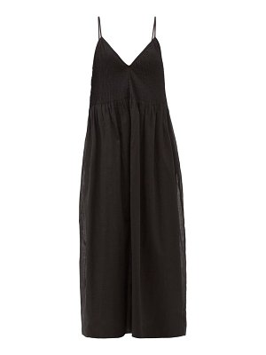 Sir alina pintucked cotton-blend midi dress