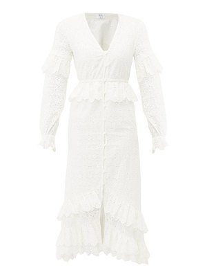 Sir amelie ruffled broiderie-anglaise cotton dress