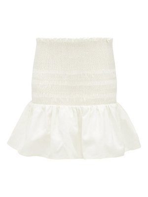 Sir arlo smocked cotton-twill mini skirt