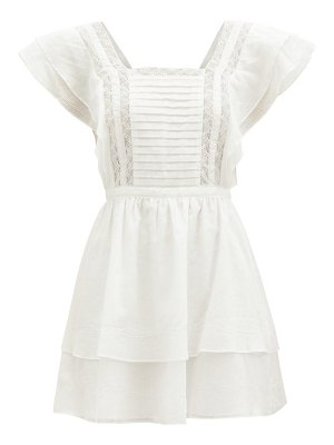 Sir caprice ruffled cotton-blend mini dress