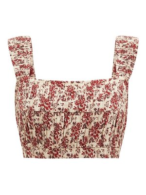 Sir floré floral-print cotton-blend crop top