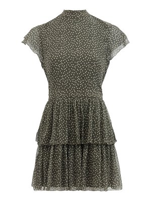 Sir isabelle polka-dot silk-chiffon mini dress
