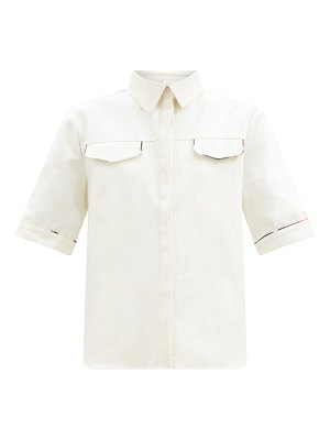 Sir maurice piped cotton-canvas shirt