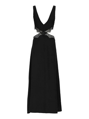SIR the label Alma silk satin & lace midi dress