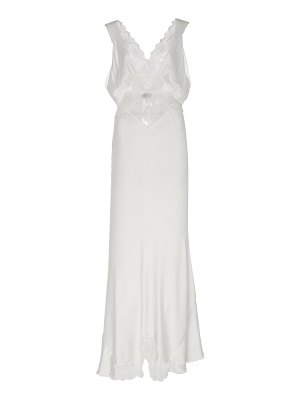 SIR the label aries lace-trimmed silk-satin maxi dress