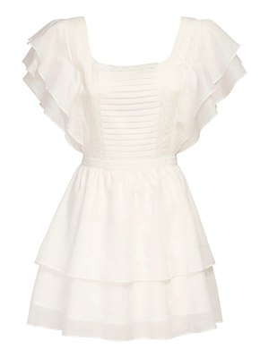 SIR the label Caprice ruffle cotton & linen mini dress