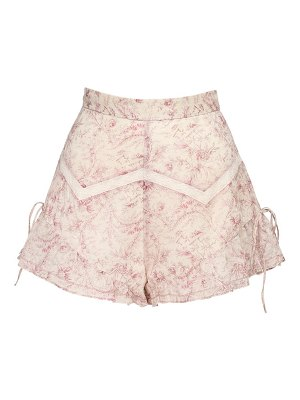 SIR the label Caprice ruffled cotton & linen shorts