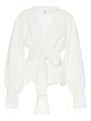 SIR the label emile tie-front linen top