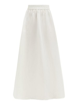 Sir valetta high-rise silk-dupion maxi skirt