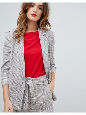 Sisley Pink Check Double Breasted Blazer