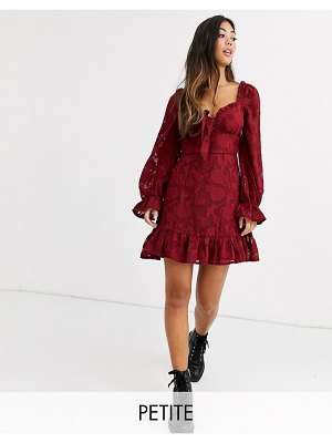 Sisters of the Tribe tea dress in tonal vintage floral-red
