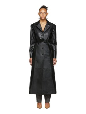 SITUATIONIST leather trench coat
