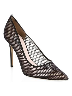 SJP by Sarah Jessica Parker fawn mesh leather point-toe pumps