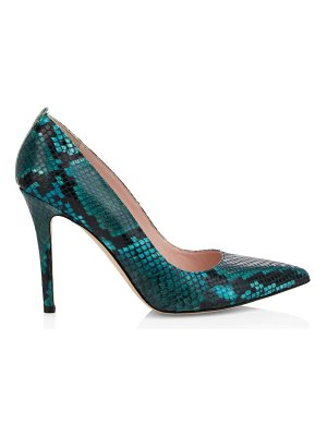 SJP by Sarah Jessica Parker fawn python-embossed leather pumps