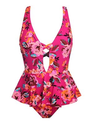 Skinny Dippers hot house floral one-piece swimsuit
