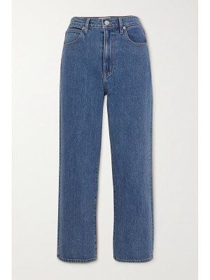 SLVRLAKE + net sustain london cropped high-rise straight-leg jeans