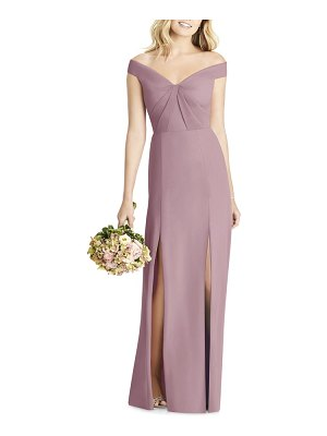 Social Bridesmaids off the shoulder chiffon gown