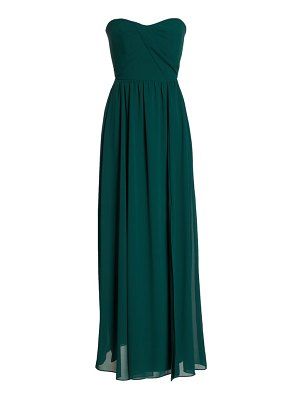 Social Bridesmaids strapless georgette a-line gown