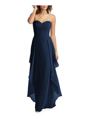 Social Bridesmaids strapless sweetheart neck chiffon gown