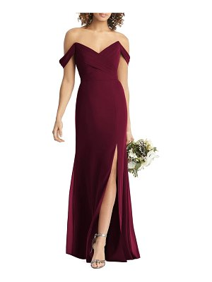 Social Bridesmaids strapless v-neck chiffon trumpet gown