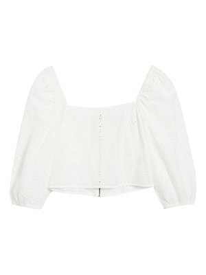 Socialite eyelet square neck top