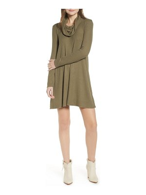 Socialite maddie cowl neck swing dress