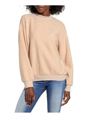 Socialite teddy mock neck sweatshirt