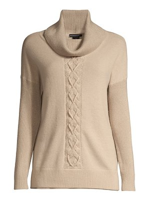 Sofia Cashmere lurex cable knit cashmere sweater