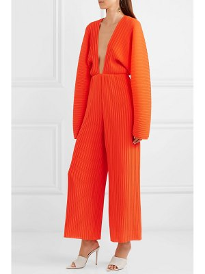 Solace London livia plissé-chiffon jumpsuit