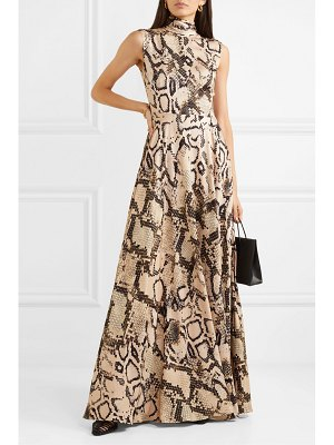 Solace London rhoda snake-print jersey maxi dress