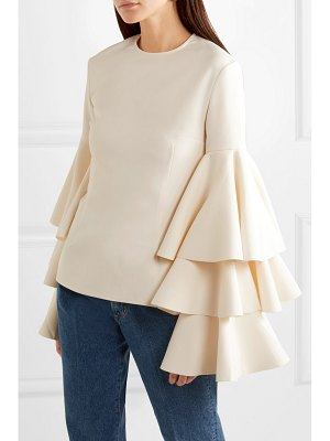 Solace London ruba tiered ruffled crepe blouse