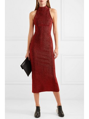 Solace London stretch-lurex midi dress
