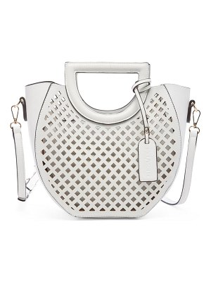 Sole Society eppie perforated faux leather satchel