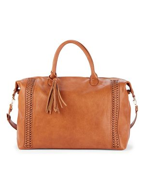 Sole Society tara whipstitched faux leather weekend bag