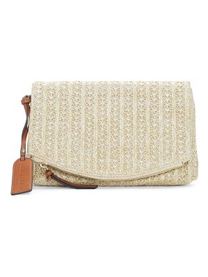Sole Society textured faux leather clutch