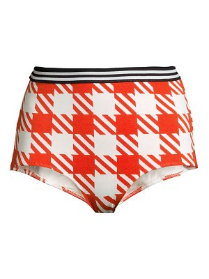 Solid and Striped the kayla high-rise gingham bikini bottoms