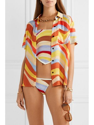 Solid & Striped cabana printed voile shirt