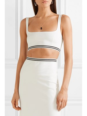 Solid & Striped cropped stretch-ponte top
