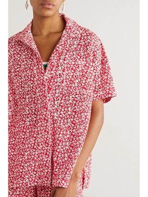 Solid & Striped floral-print broderie anglaise cotton shirt