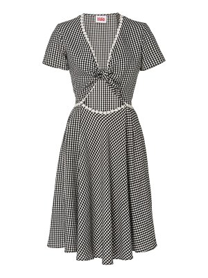 Solid & Striped gingham cutout ponte dress size: l