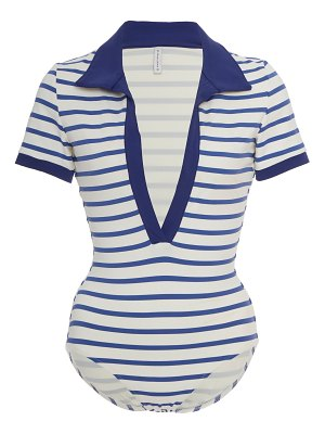 Solid & Striped maya striped swimsuit size: s