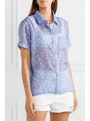 Solid & Striped polka-dot voile shirt