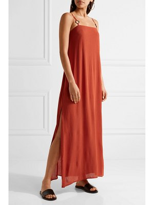 Solid & Striped staud calico crinkled gauze maxi dress