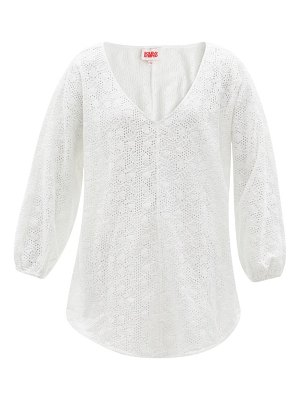 Solid & Striped the devon v-neck broderie-anglaise tunic