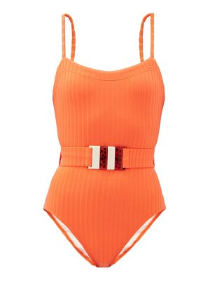 Solid & Striped the gemma belted ribbed swimsuit