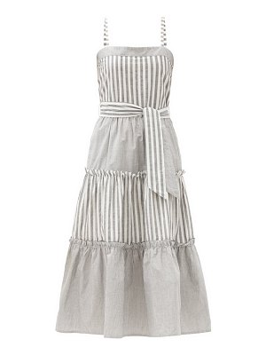 Solid & Striped the georgia belted striped cotton midi dress