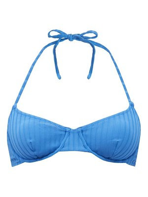 Solid & Striped the ginger ribbed underwired bikini top