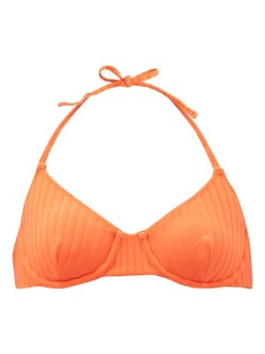 Solid & Striped the ginger striped underwired bikini top