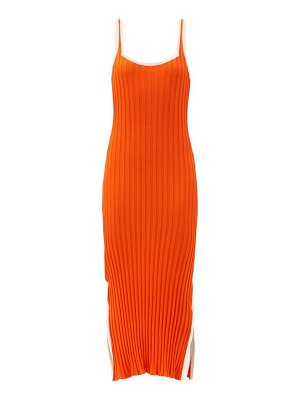 Solid & Striped the kimberly side-slit ribbed-jersey midi dress
